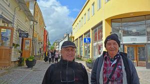 Två franska turister i Borgå