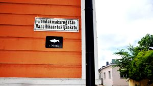 Ett hus i gamla stan i Ekenäs.