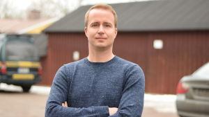 Jens Mattfolk från Finlands svenska lärarförbund.