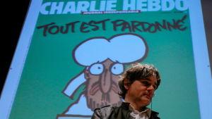 Charlie Hebdos chefredaktör Laurent Sourisseau