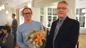 Mikael Åhl och Markku Sandström från Sibbo-vargarna.