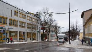 Mannerheimgatan i Borgå under vintern