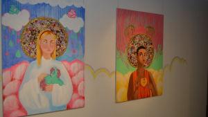 Två målningar från Stella Crawfords slutarbete