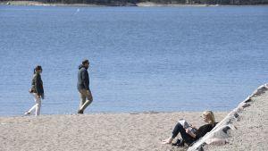 Sandudds badstrand i Helsingfors.
