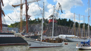 Ett segelfartyg på Tall Ships Races.