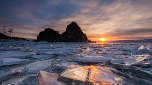 Baikalsjön i Sibirien