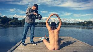 Benny Smeds mediterar vid Tölöviken