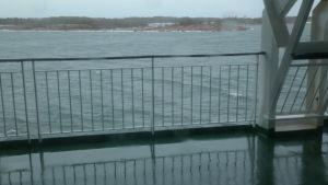 Utsikten från däck på Tallink Galaxy