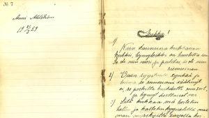 Anni Ahlstömin käsinkirjoitettu vihko