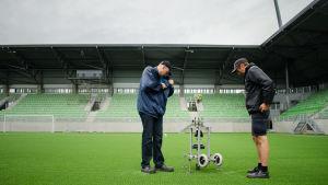 Tester i Sandvikens stadion.