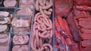 köttdisk i Wotkins fabriksaffär