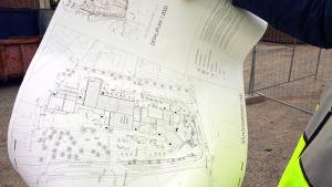 Skiss över hur Kvevlax lärcenter ska se ut
