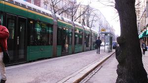Spårvagn i Helsingfors centrum