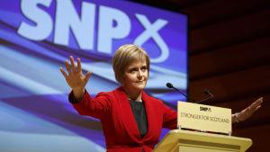 Skotska nationalistpartiets ledare Nicola Sturgeon