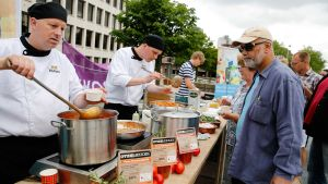 Kampnaj mot matsvinn i Rotterdam, juni 2015