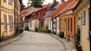 Idyllinen katu Ystadissa, Ruotsi