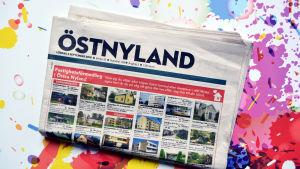 Omslaget till tidningen östnyland
