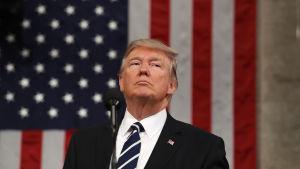 President Trump håller sitt första tal inför kongressen 29.2.2017