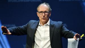 Tim Berners-Lee på en konferens i Zürich i januari 2017.