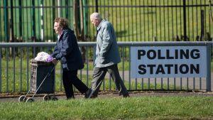 Väljare i lokalvalet i Storbritannien