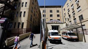 Sjukhuset Loreto Mare i Neapel i Italien.