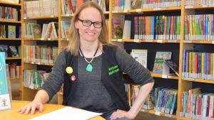Maria Grundvall i Grankulla bibliotek