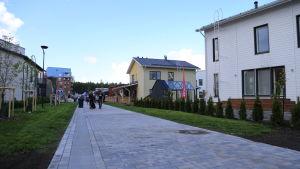 Småhusområde på bostadsmässan i Kivistö 2015.
