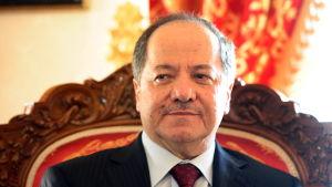 Porträttbild av irakiska Kurdistans president Massoud Barzani.