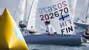 Tuula Tenkanen säkrade Finlands andra OS-plats i segling.