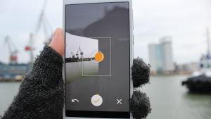 Panoramabildtagning med smarttelefon.