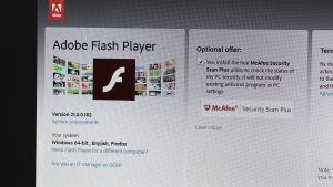 Adobe Flash Players nedladdnignssida.