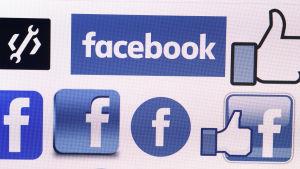 Facebooks logotyper.
