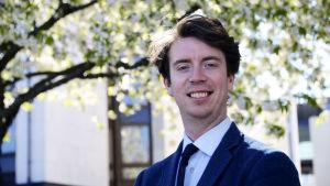 Bild på Axel Jonsson som är partiledare för Ålands Framtid.