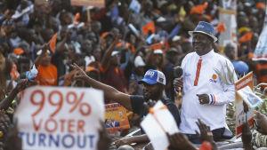 Oppositionsledaren Raila Odinga ställer upp i presidentvalet för fjärde och sannolikt sista gången.