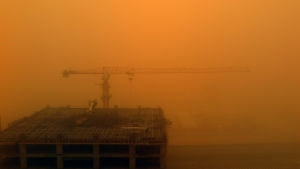 Sandstorm i Dubai 2.4.2015.