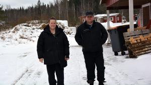 Heidi och Marcus Petas, mjölkbönder i Mörskom