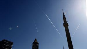 Et'hem Bey -moskéns minaret i Tirana, Albanien