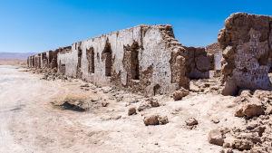 Ruiner i Pampa Union, Chile.