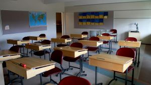 Klassrum i Kyrkoby Skola i Jakobstad