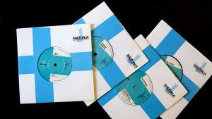 Kalevala Recordsin neljä vinyylisingleä.