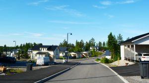 Nya området Tasträsk börjar bli färdigt i Söderkulla, Sibbo,