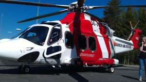 Räddningshelikoptern i Umeå