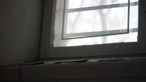 Fönster med galler.