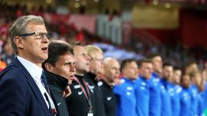 Markku Kanerva leder landslaget mot Österrike.