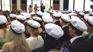 Studentdimission i i Brändö gymnasium.