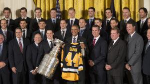 Pittsburgh Penguins besöker Barack Obama 2016.