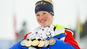 Marie Dorin Habert knep sex medaljer.
