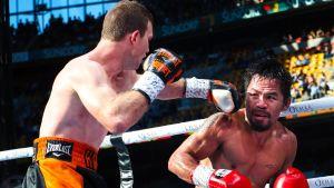 Jeff Horn och Manny Pacquaio i boxningsringen.