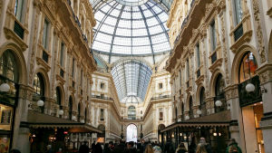 Shoppinggalleria i Milano.