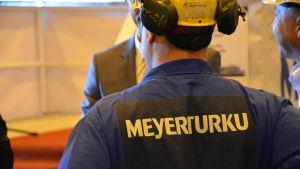 Varvsarbetare på Meyer Turku.